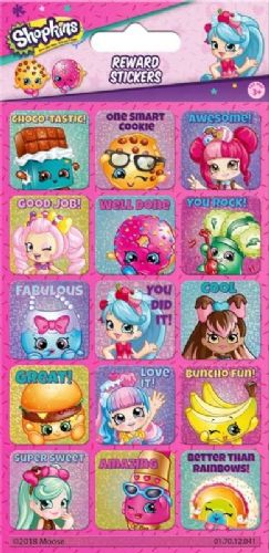 Shopkins and Shoppies Reward Stickers